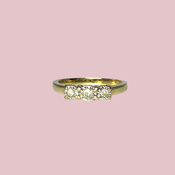 vintage trilogie ring met diamant