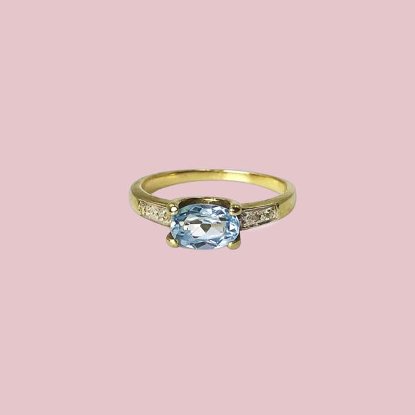 ring topaz dream lichtblauw
