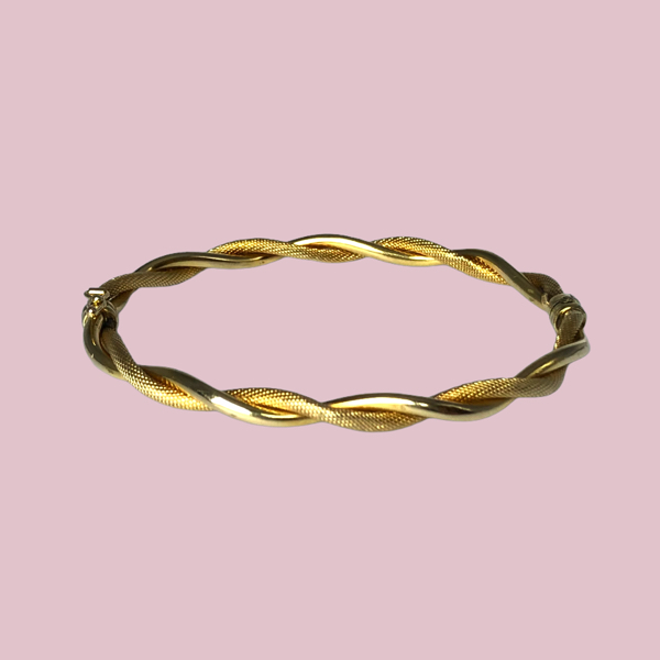 twisted bangle 9 karaat goud armband
