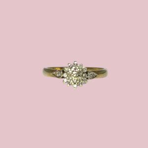 ring diamant cluster