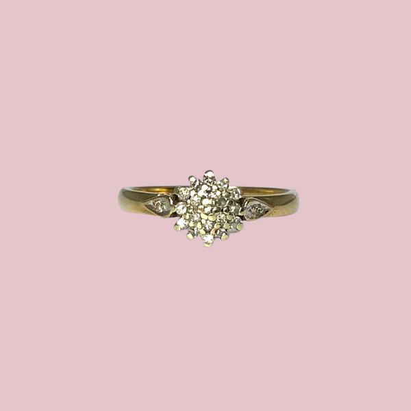 ring diamant cluster sieradenmeisje