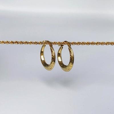 vintage oorbellen goud van sieradenmeisje