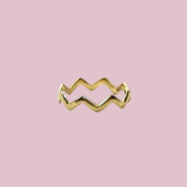 stacking ring goud driehoeken