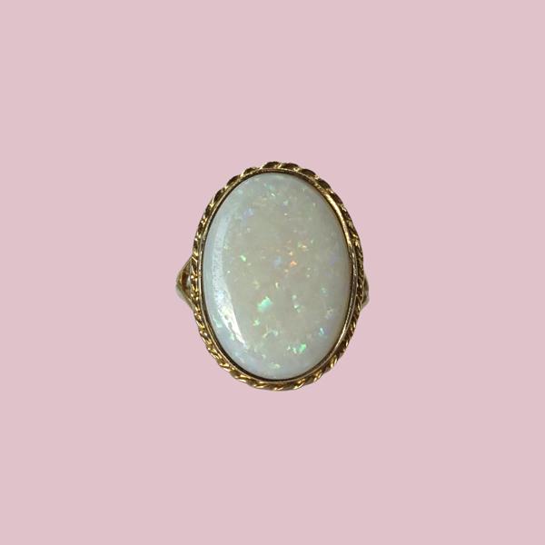 opaal ring cosmic opal sieradenmeisje vintage