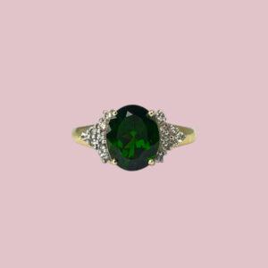 ring diopside groen