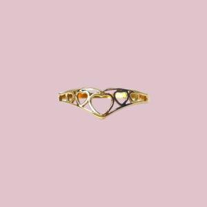 vintage gouden ringen met hartjes wishbone