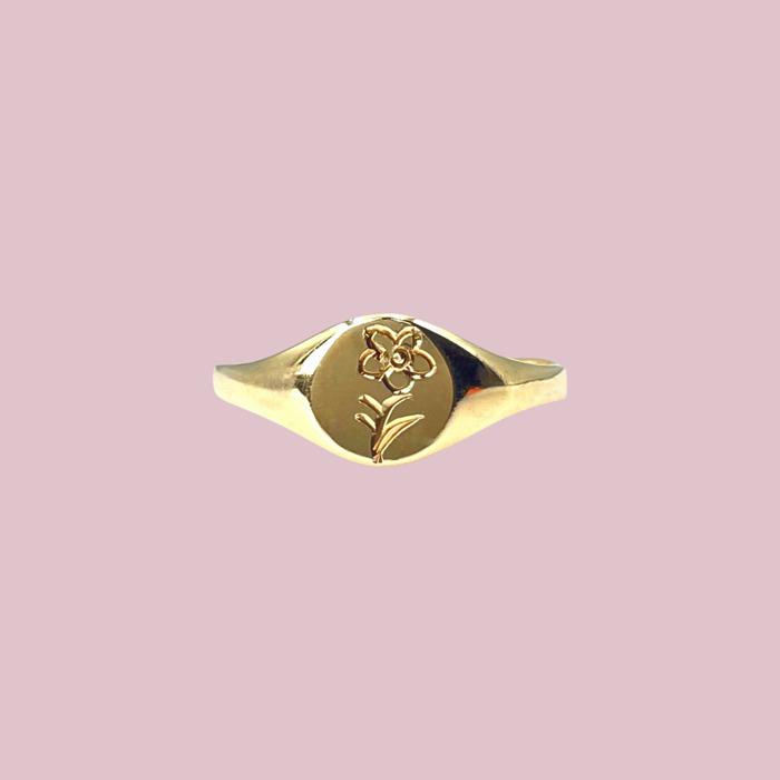 vintage signet ring goud voor dames
