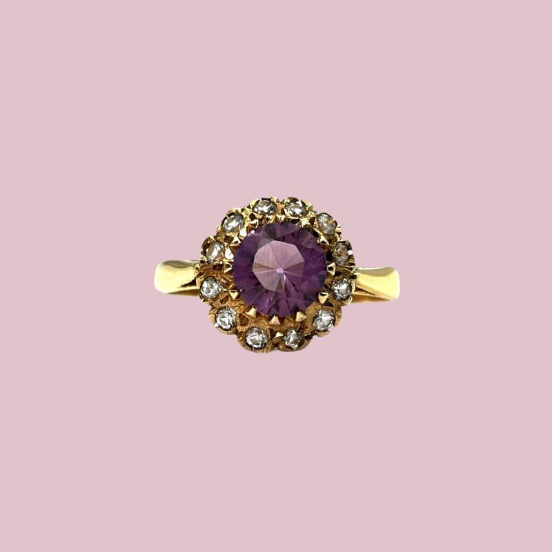 vintage_ring_amethist_entourage_goud
