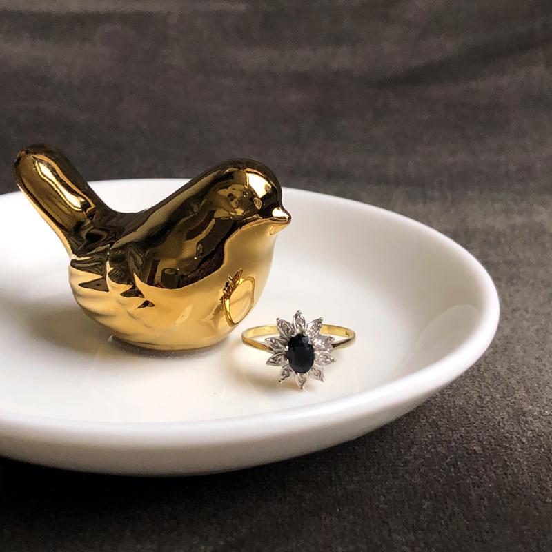 diamant bloem ring