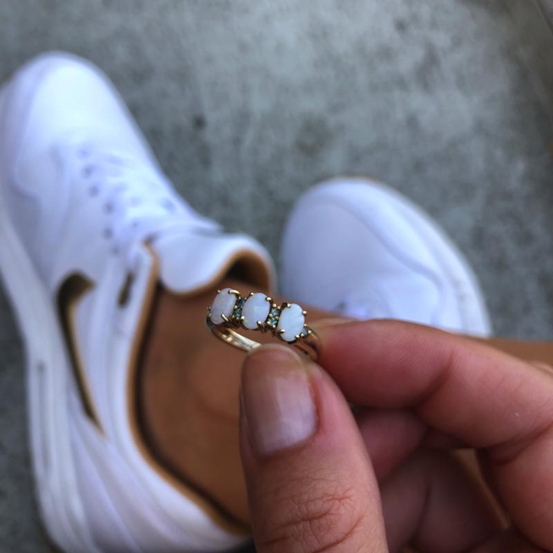 drie opalen ring