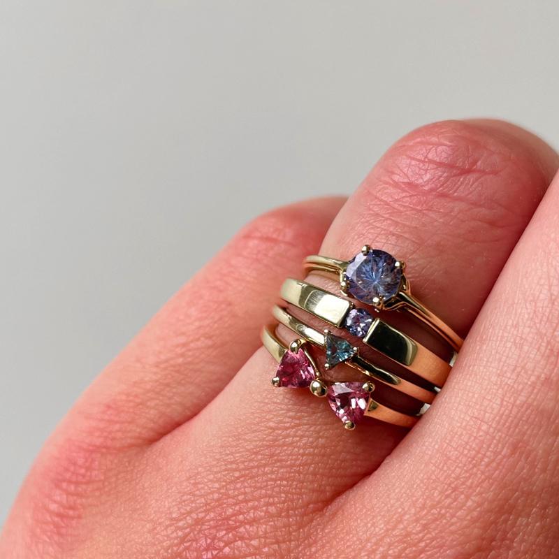 vintage ring stacking