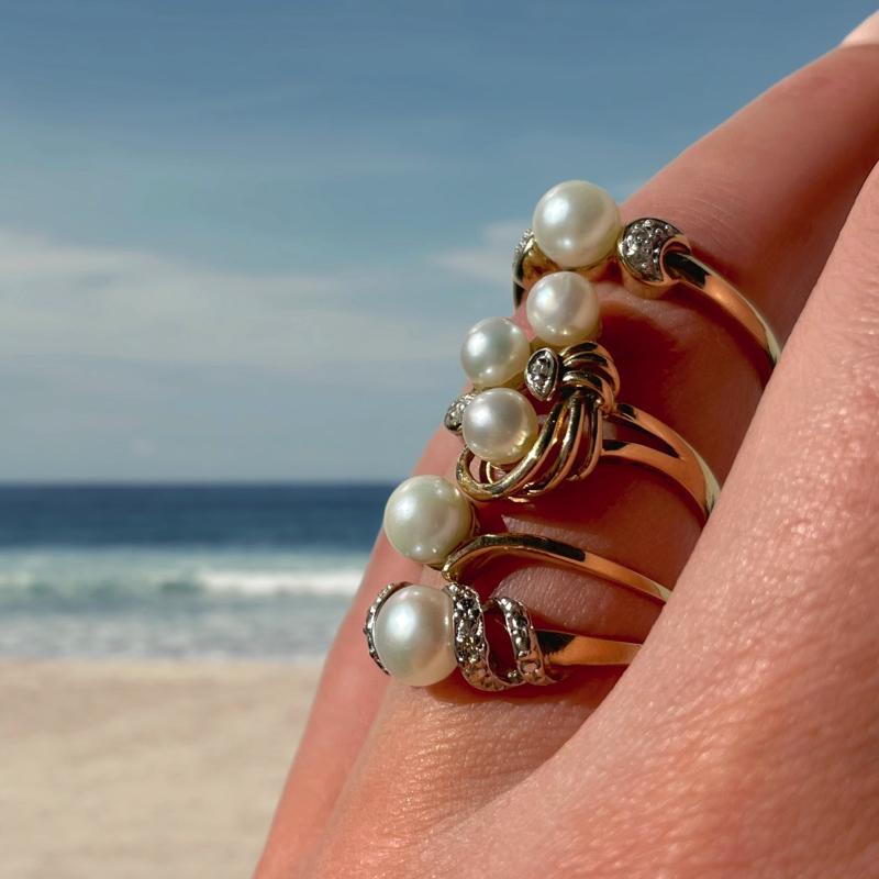 gouden parel ringen