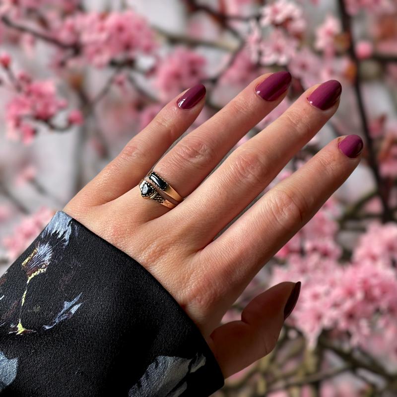 ring met onyx klein