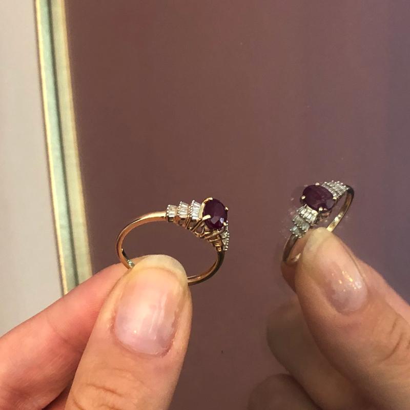 ring robijn en diamant