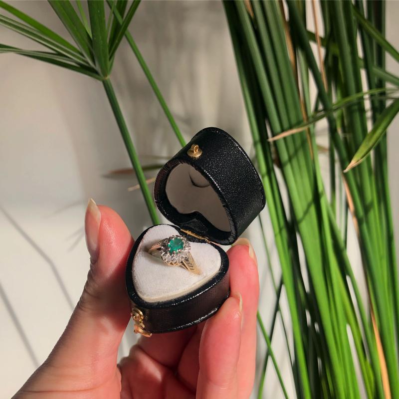 vintage smaragd cluster ring
