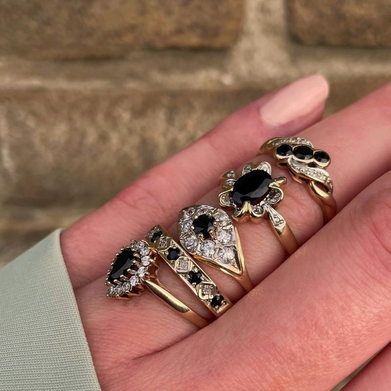 tweedehands saffier ring