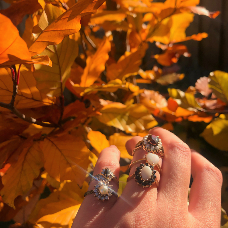 gouden ring vintage herfst