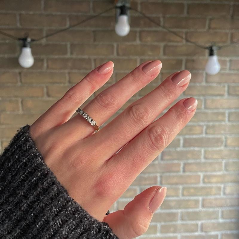 diamant rij ring
