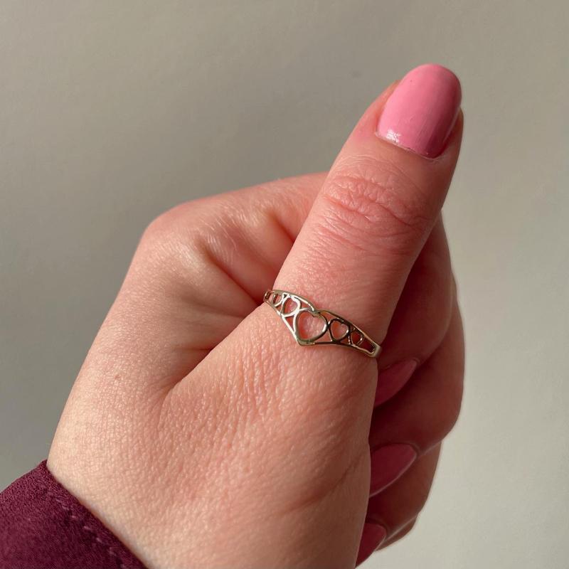 vintage duim ring van goud