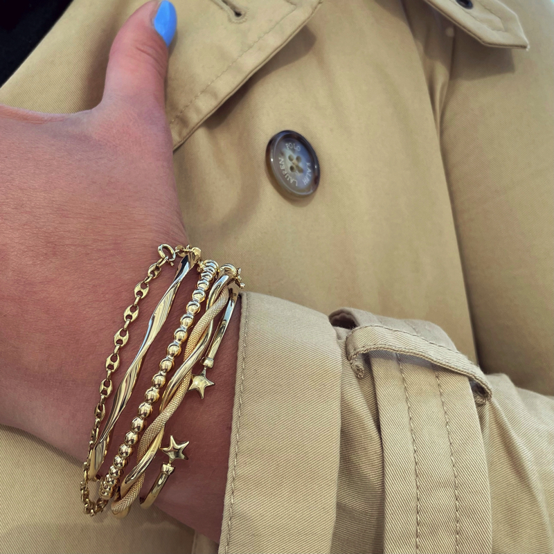 vintage gouden armbanden bangles van goud