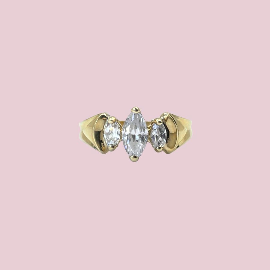 gouden ring ratanakiri zirkoon markies geslepen goud