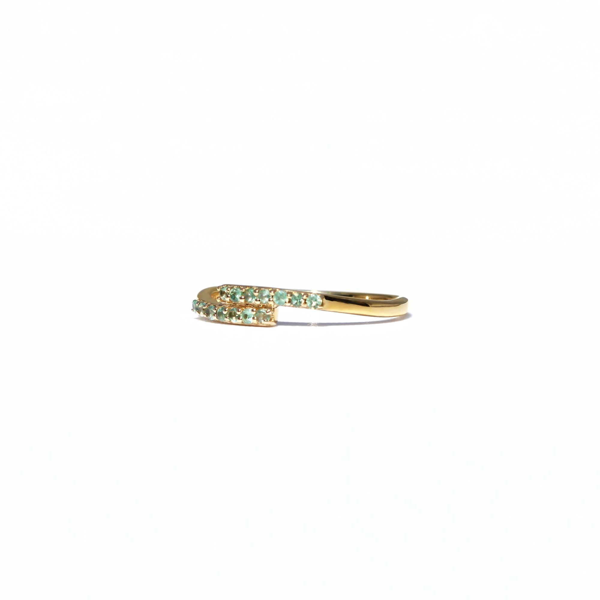 vintage ring apatiet rij ring 9k goud