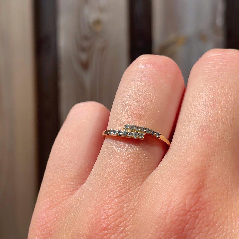 apatiet ring vintage goud rijring eternity